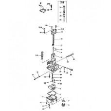 01. NEW GENUINE KEIHIN PWK 28 CARBURETOR REBUILD KIT